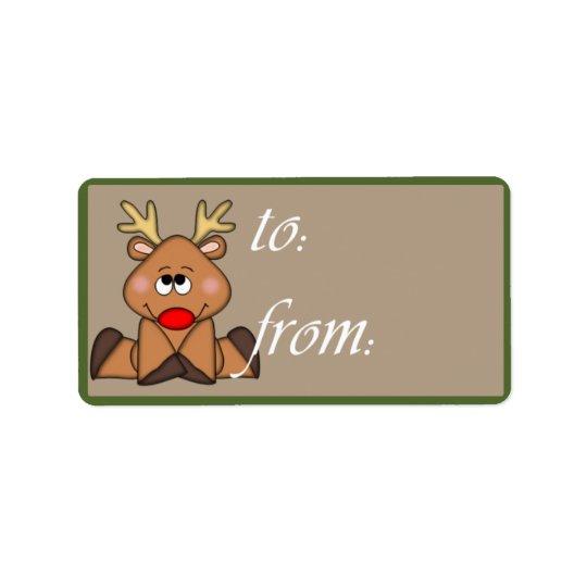 Shy Reindeer Gift Tag