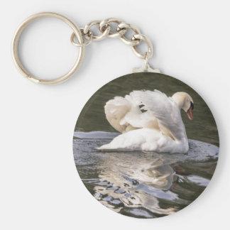 Shy Swan Key Ring