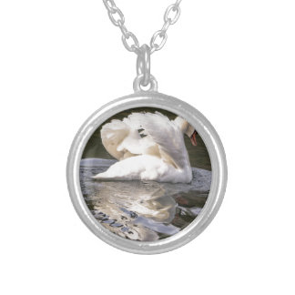 Shy Swan Silver Plated Necklace