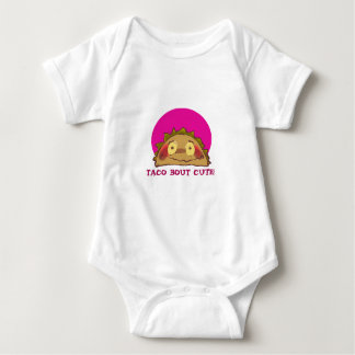 shy taco funny cartoon baby bodysuit