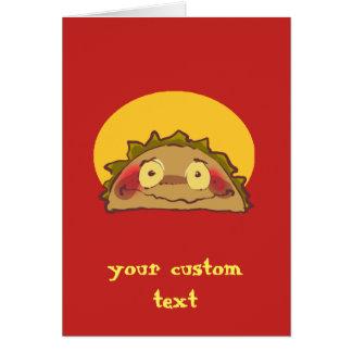 shy taco funny cartoon card