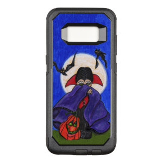Shy Vampire Red Purple Cape Pumpkin Moon Bats OtterBox Commuter Samsung Galaxy S8 Case