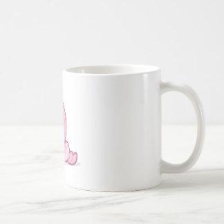 Shy worm coffee mug