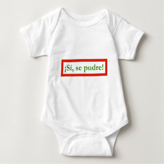 si se pudre puede yes i can obama baby bodysuit