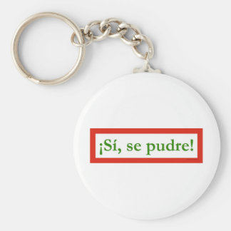 si se pudre puede yes i can obama basic round button key ring