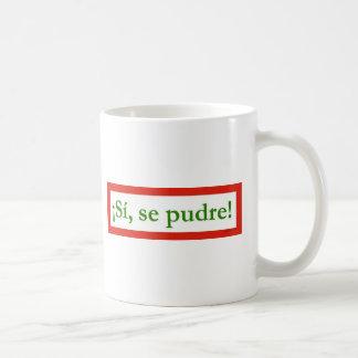 si se pudre puede yes i can obama basic white mug