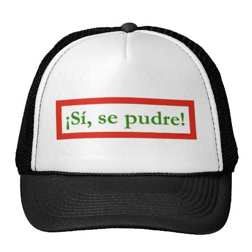 si se pudre puede yes i can obama trucker hat