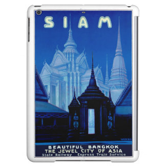 Siam Thailand Vintage Travel Poster Restored Case For iPad Air