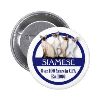Siamese 100 Years Button