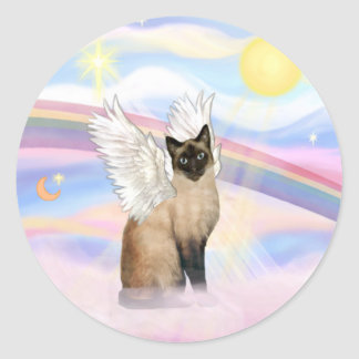 Siamese 22 - Clouds Classic Round Sticker