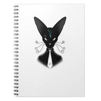 Siamese Black Cat Punk Notebook