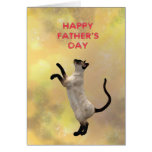 Siamese cat and Father's day Greeting Card