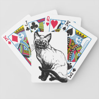 Siamese Cat Bicycle Playing Cards