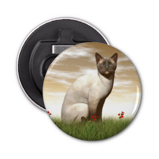 Siamese cat bottle opener