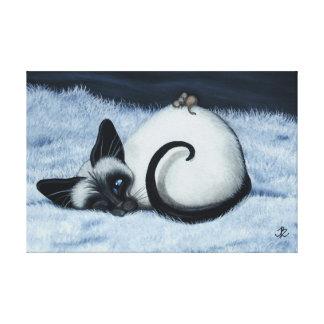 Siamese Cat by BihrLe Canvas Art Print