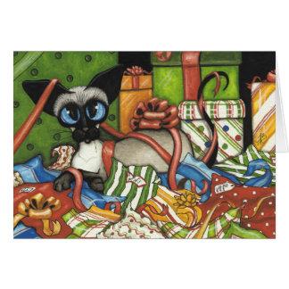 Siamese Cat by BiHrLe Christmas Card