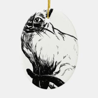Siamese Cat Ceramic Ornament