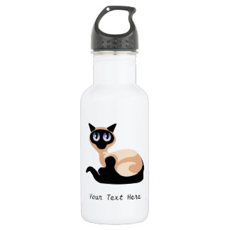 Siamese Cat (Customizable) 532 Ml Water Bottle