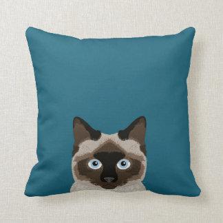 Siamese Cat - Cute cat pillow for cat lady