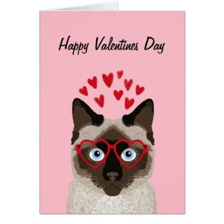 Siamese Cat - cute valentines love card