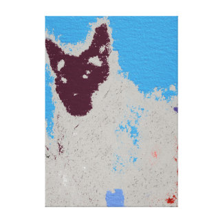 Siamese Cat Expressionism Canvas Print