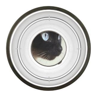 Siamese cat food dish pet bowl