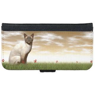 Siamese cat iPhone 6 wallet case