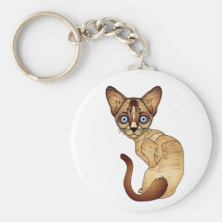 Siamese Cat Key Chain