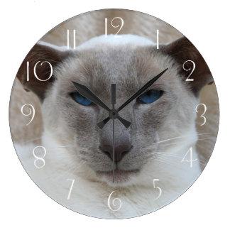 Siamese Cat Large Clock