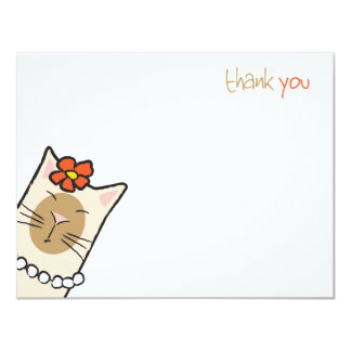 Siamese Cat Lover | Flat Thank You Note Cards 11 Cm X 14 Cm Invitation Card