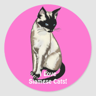 Siamese Cat Lover Gifts Sticker