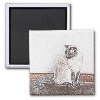 Siamese Cat Magnet