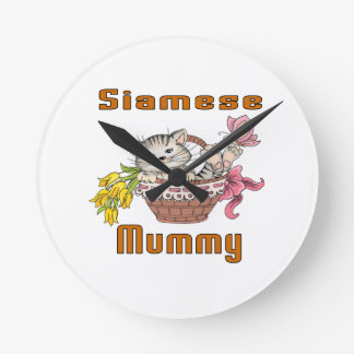 Siamese Cat Mom Wallclock