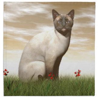 Siamese cat napkin