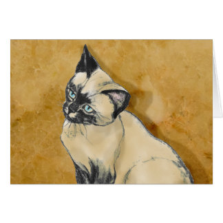 Siamese Cat on Gold Card