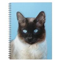 Siamese Cat Painting - Cute Original Cat Art