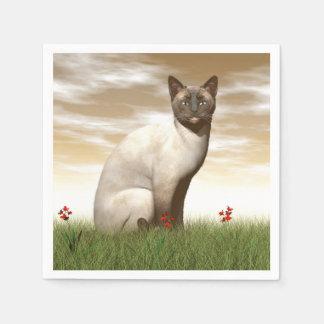Siamese cat paper napkins
