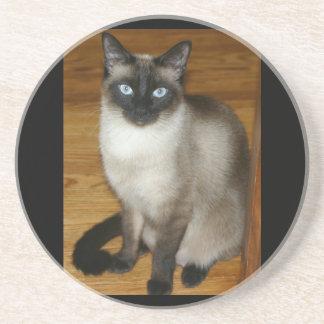 Siamese Cat Pet Animal Office Peace Love Destiny Drink Coasters