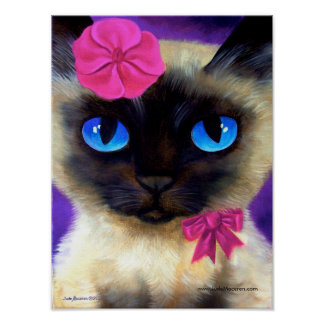 Siamese Cat Poster - 155 CHARMING