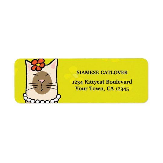 Siamese Cat Return Address Labels