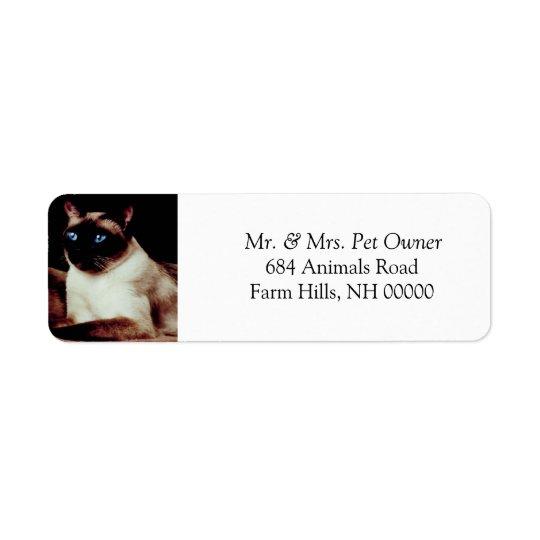 Siamese Cat Return Address Stickers Labels