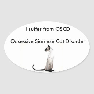 Siamese cat Sticker