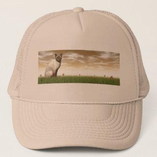 Siamese cat trucker hat