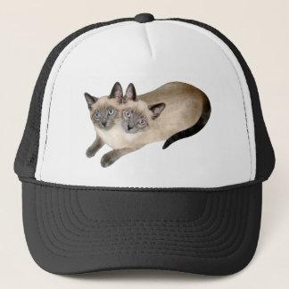 Siamese Cat Twins Trucker Hat