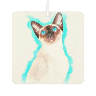 Siamese Cat Watercolor Art