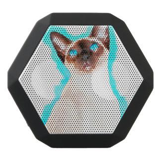 Siamese Cat Watercolor Art Black Bluetooth Speaker