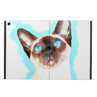 Siamese Cat Watercolor Art Case For iPad Air