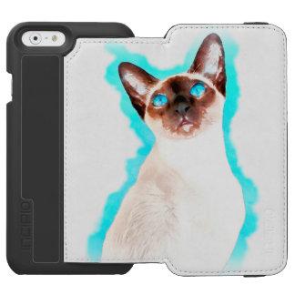 Siamese Cat Watercolor Art Incipio Watson™ iPhone 6 Wallet Case