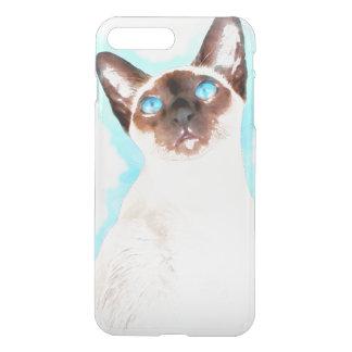 Siamese Cat Watercolor Art iPhone 8 Plus/7 Plus Case