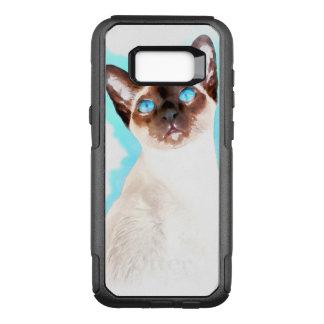 Siamese Cat Watercolor Art OtterBox Commuter Samsung Galaxy S8+ Case